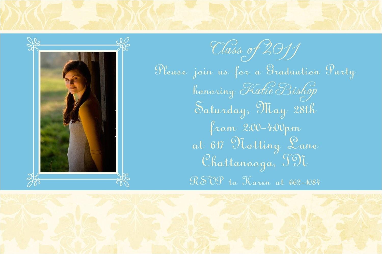 ornate graduation party invitation