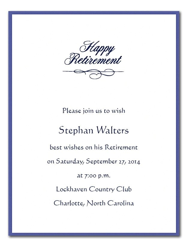retirement flyer invitation
