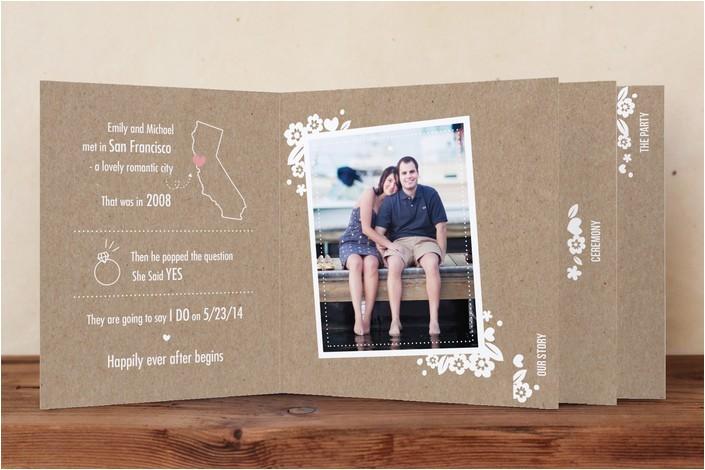 mini book wedding invitation
