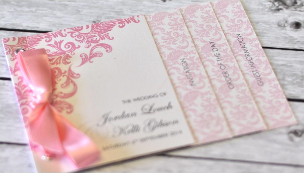 invitations mini book wedding invitation damask