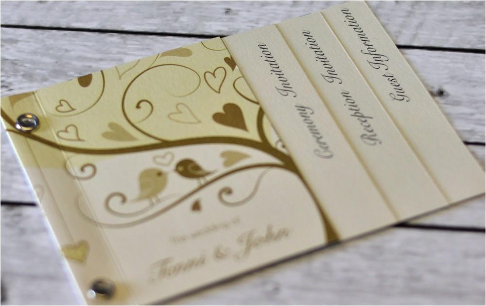 invitations mini book wedding invitation love birds