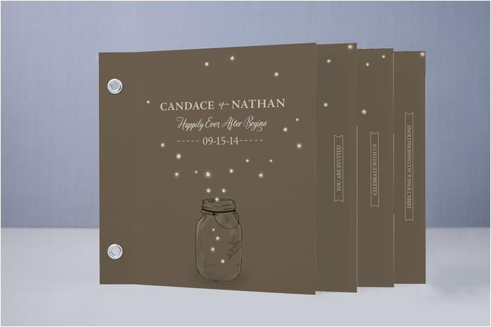 wedding invitation minibook