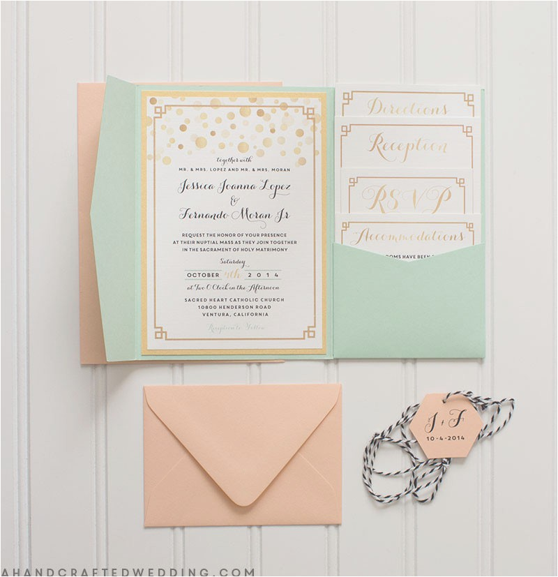 modern diy wedding invitations