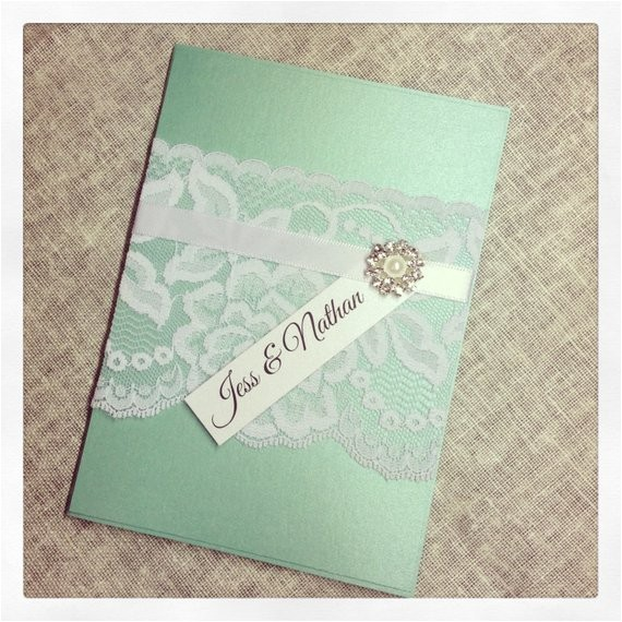 mint green vintage lace wedding