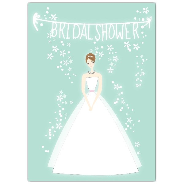bride mint bridal shower invitations p 605 57 ps133