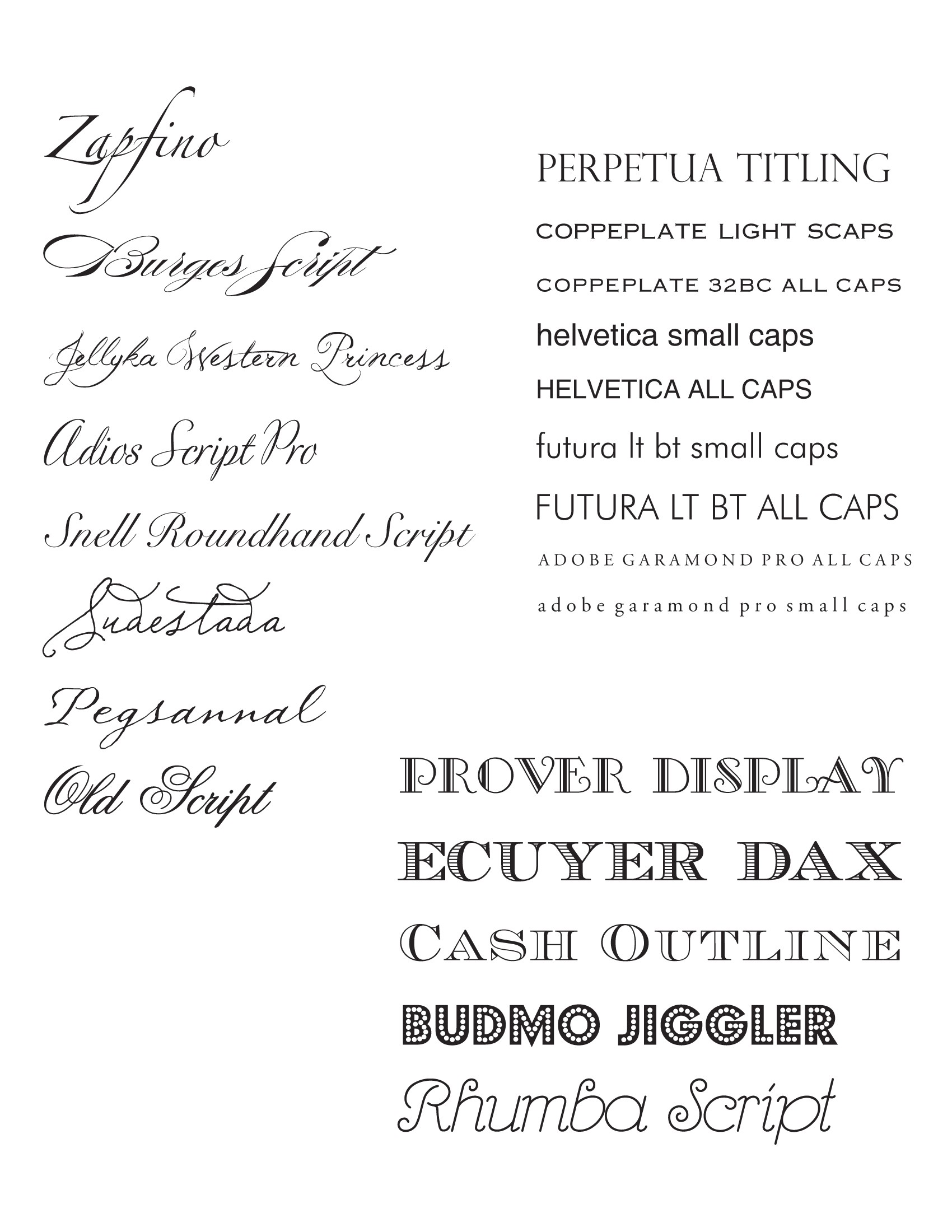 fonts for invitations for weddings