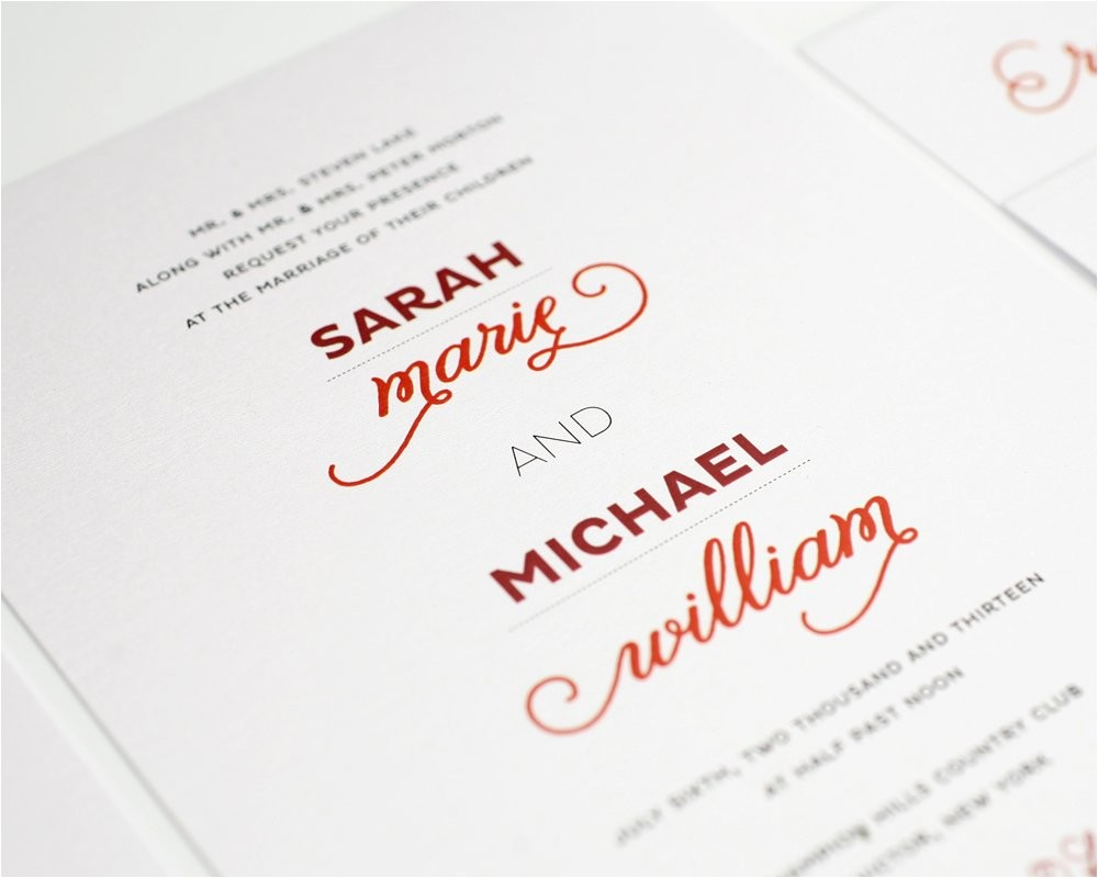 modern whimsy wedding invitations