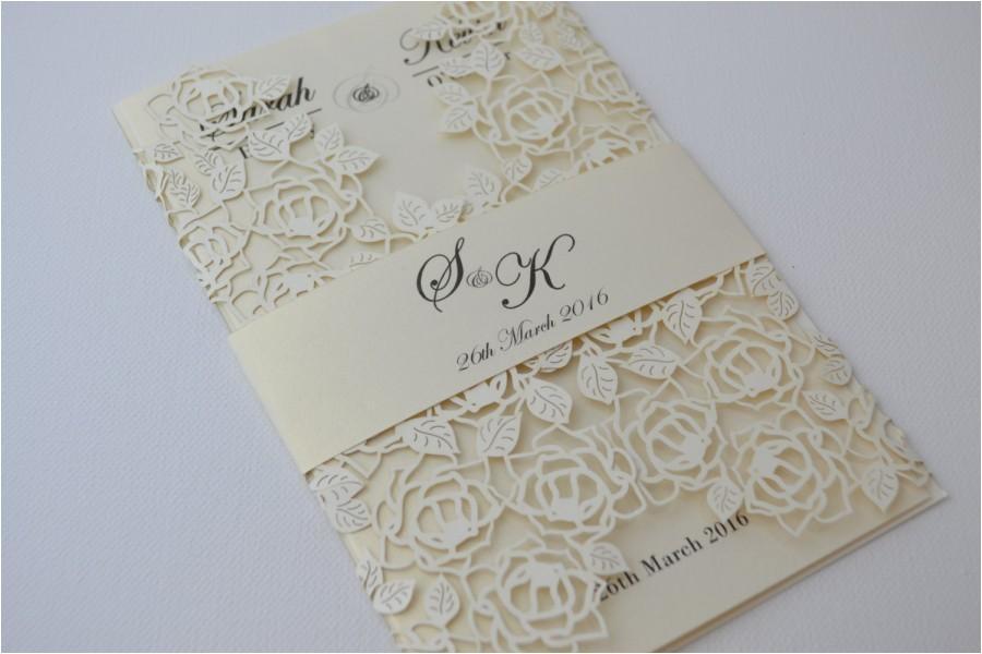 laser cut wedding invitations ivory laser cut wedding invitation beautiful wedding invitation