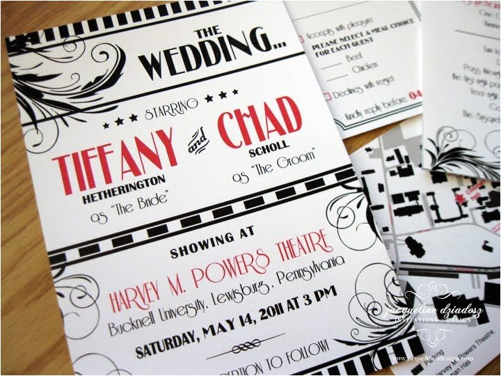 theater themed wedding things