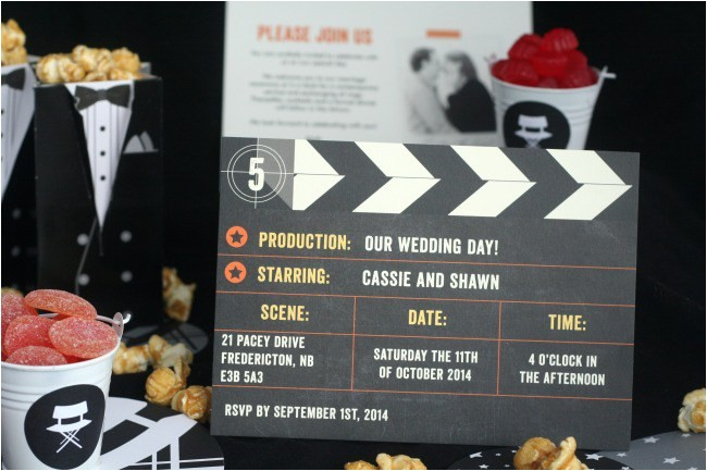 a movie themed wedding with minted