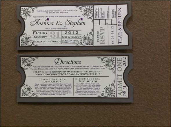 movie theme invitation suite a blessing in disguise