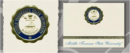 Mtsu Graduation Invitations Middle Tennessee State University Graduation Announcements