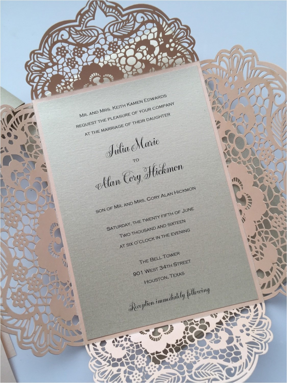 laser cut wedding invitation lace laser cut wedding invite lace wedding invite bohemian invitation lattice 3 blush
