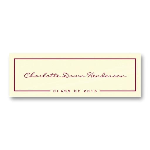 name cards for graduation announcements