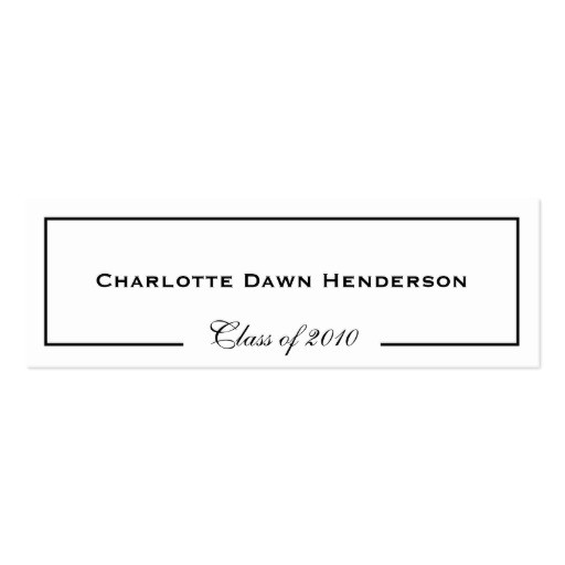 Name Cards for Graduation Invitations Graduation Announcement Name Card Border Class Of Double