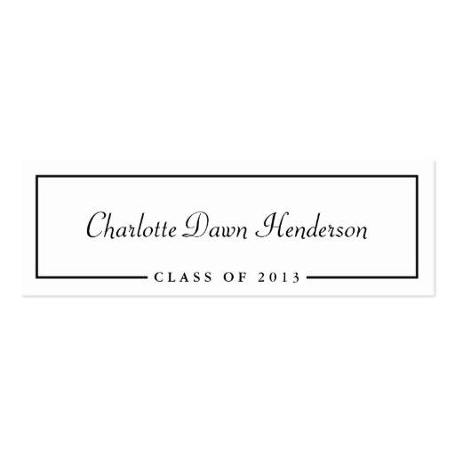 graduation announcement name card border class of business card 240720418225675129