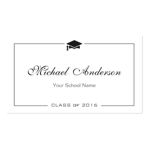 graduation name card elegant classic insert card business card 240357842514149488