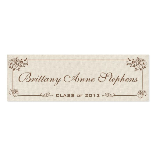 traditional graduation announcement name cards