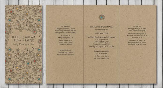 Natural Paper Wedding Invitations Natural Wedding Stationery Paperchain Wedding Stationery