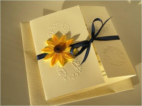 sunflower and navy blue wedding