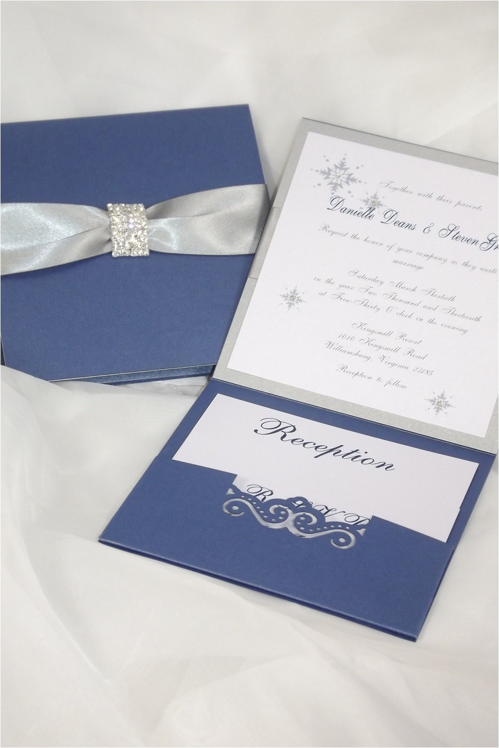 navy blue wedding invitation kits