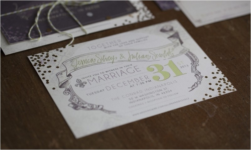 2017 simple new years eve wedding invitations ideas