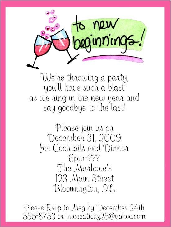 New Years Eve Wedding Invitations Wording New Year S Eve Party Invitations Wording