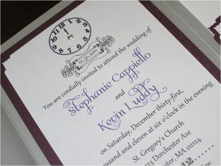 wedding invitation wording new years eve