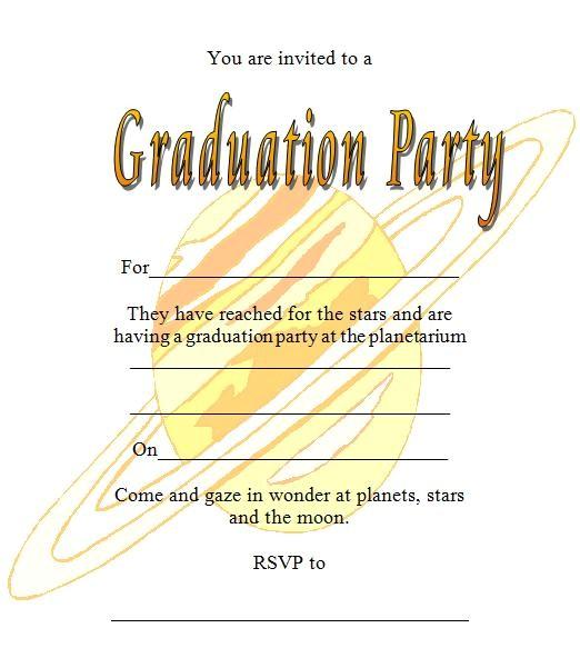 galaxy printable graduation invitations