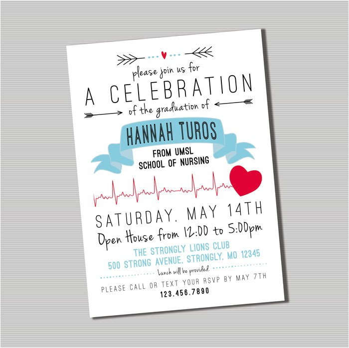 nursing graduation party invitation