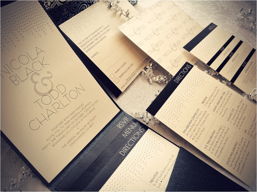 glamour wedding invitations