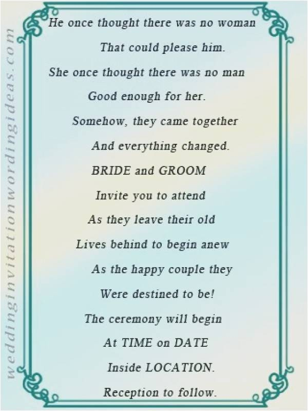 older couple wedding invitation wording