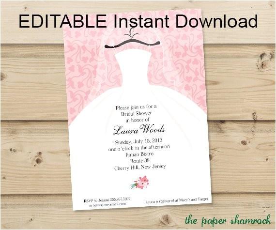 free editable bridal shower invitations