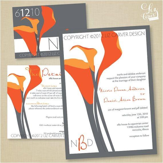 coral calla lily wedding