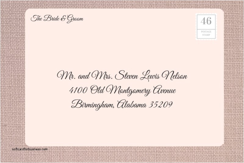 addressing outer envelopes for wedding invitations