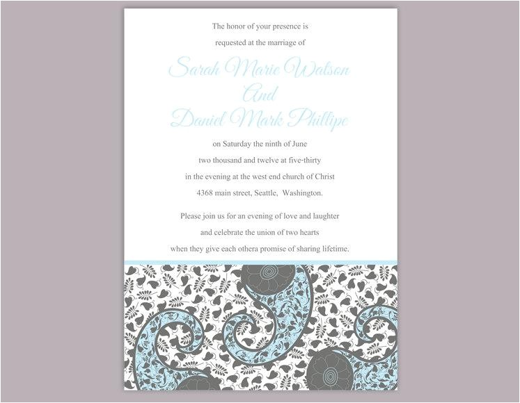 bollywood wedding invitation template download printable wedding invitation editable blue invitations indian invitation paisley invites diy 690 usd