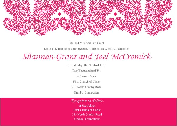 Paisley Wedding Invitation Template Paisley Wedding Invitation Template Vector 123freevectors