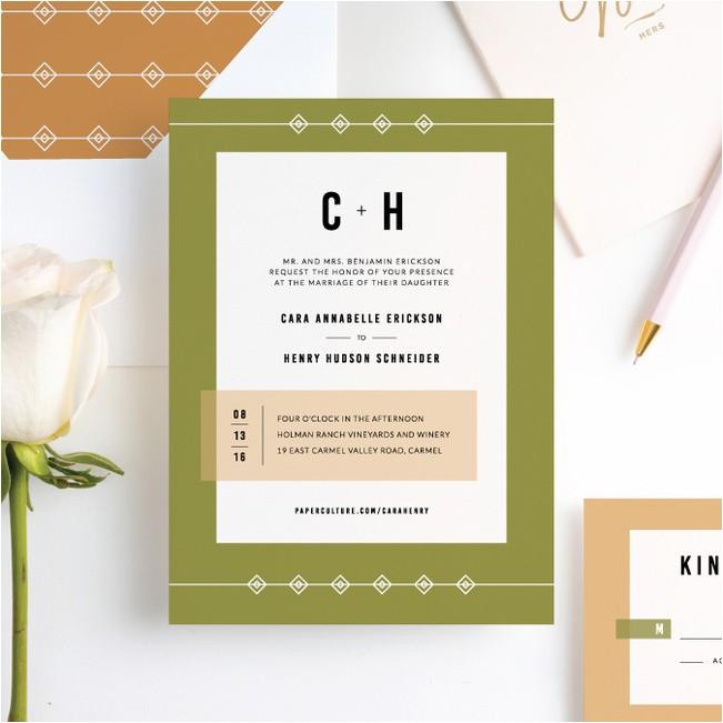 diamonds rough wedding invitations p 16215