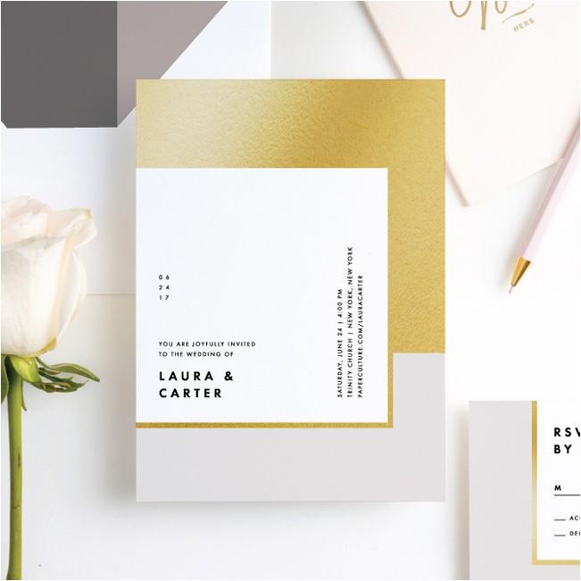 foil blocks wedding invitations p 16388