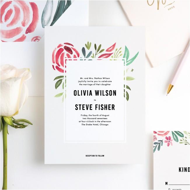 Paper Culture Wedding Invitation Strokes Of Floral Wedding Invitations Paper Culture