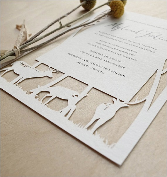 papercut wedding invitations reply