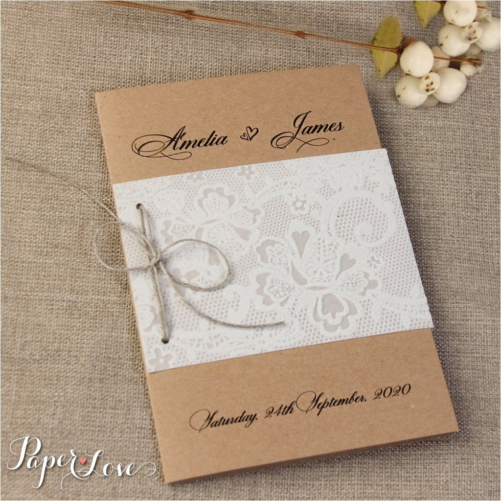 parchment paper wedding invitations