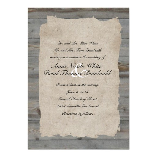 parchment wood rustic country wedding invitation 161248073854187427