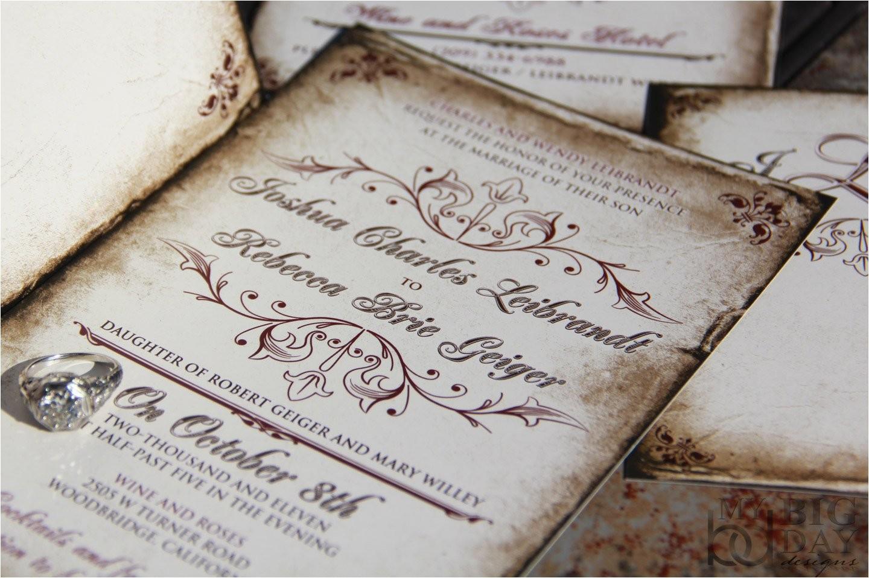 vintage parchment wedding invitations classic vintage wedding invitations antique parchment wedding invitations 8
