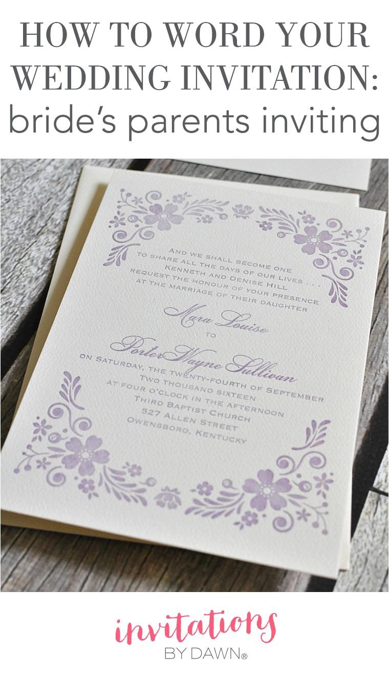 invitation wording parents inviting