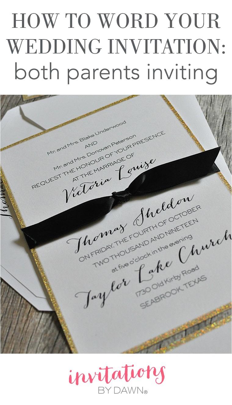invitation wording wedding both parents