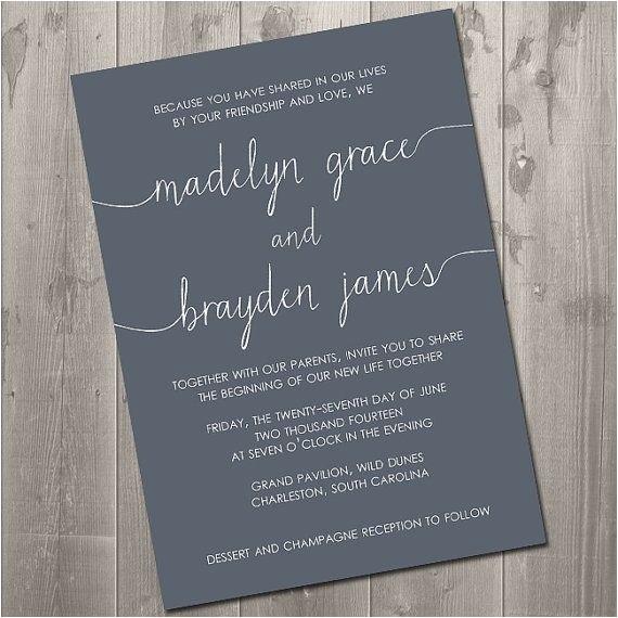 wedding invitation wording without parents 04148862