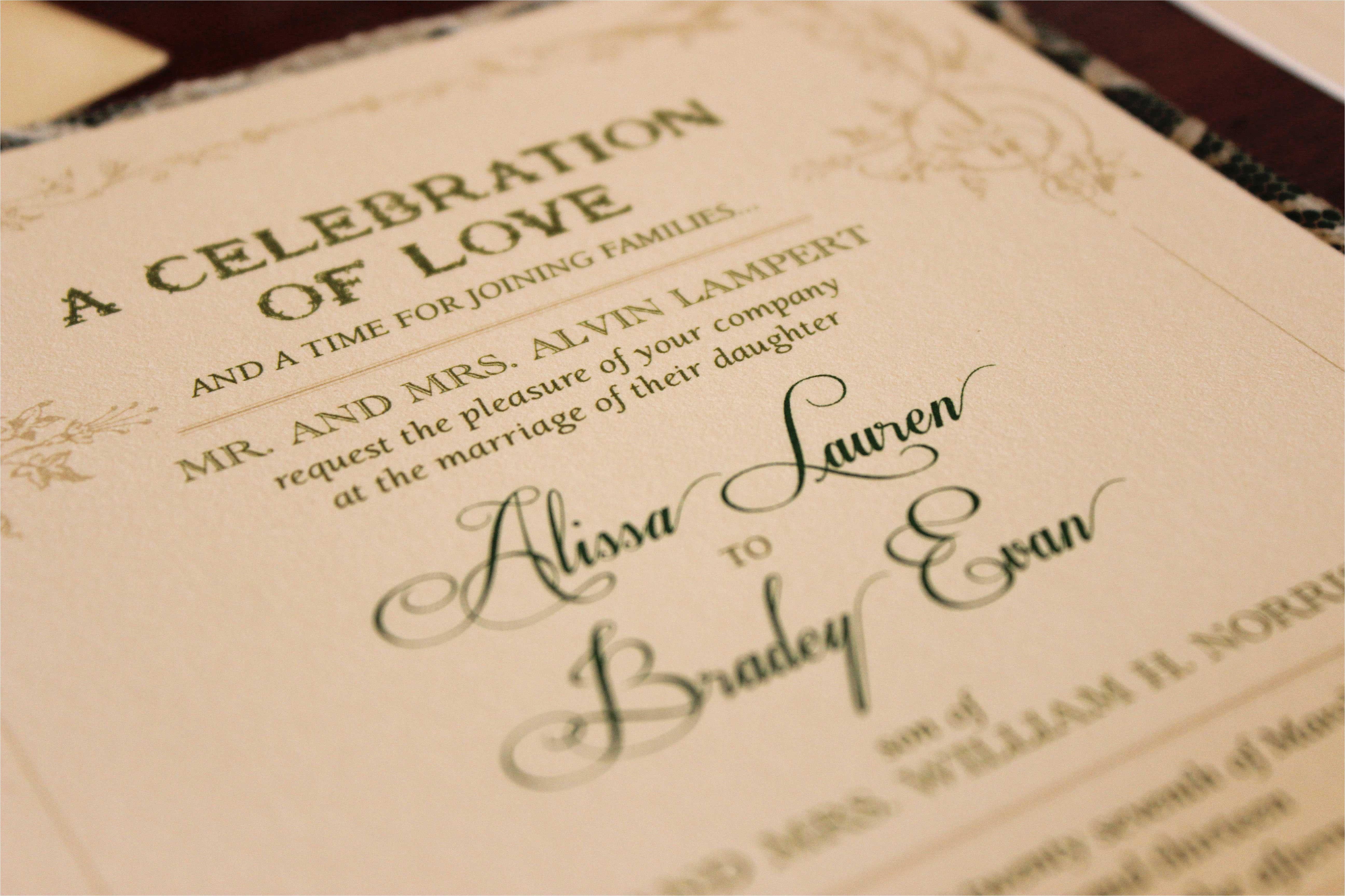 Parents Names On Wedding Invitation Etiquette Wedding Invitation Etiquette Special Wording