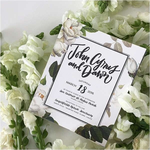 wedding invite parts