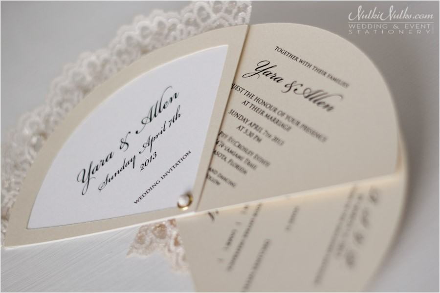 Parts Of Wedding Invitation Wedding Invitation Fans Real Weddings Stationery by